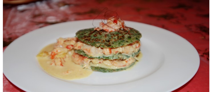 Garnelen-Krebs Hamburger