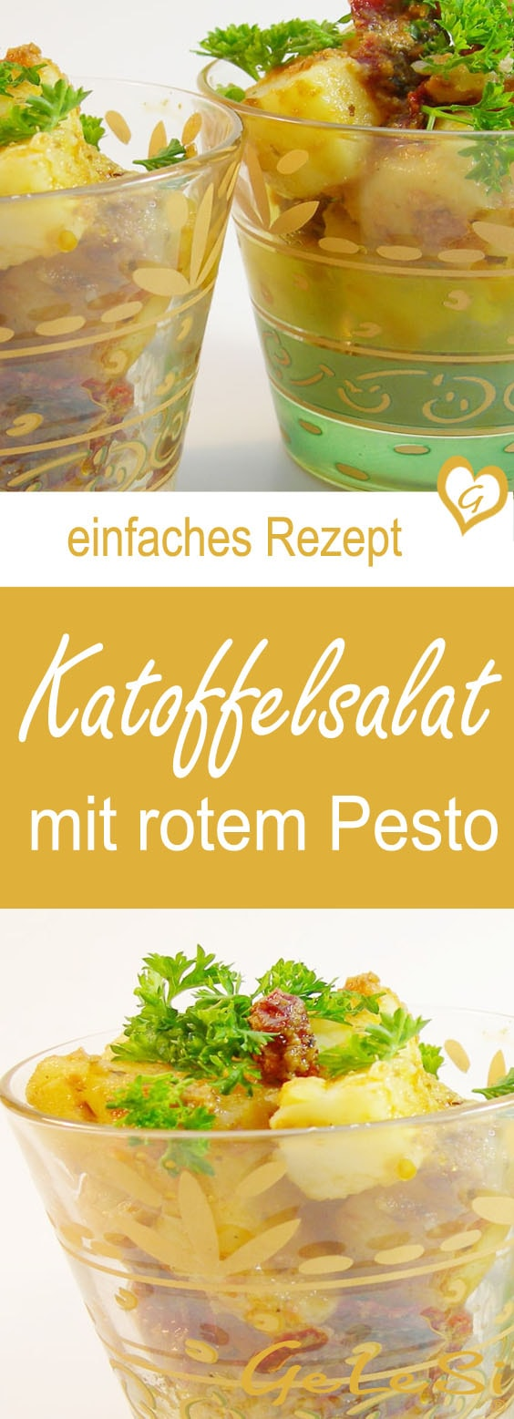 einfaches rezept f r kartoffelsala mit rotem pesto foodblog. Black Bedroom Furniture Sets. Home Design Ideas