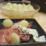 Gorgonzola mit Parmaschinken und Honigmelone