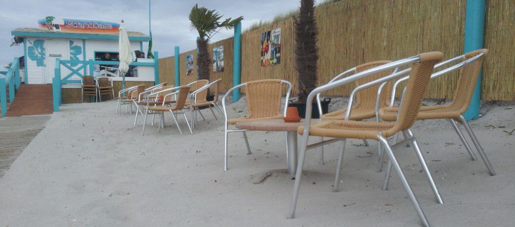 Auch bei Sturm geöffnet: Die Strandoase in Markgrafenheide