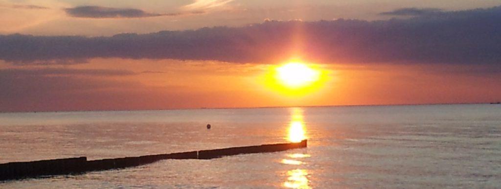 Der Osteseestrand bei der Strandoase Markgafenheide