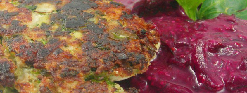 Rezept für Frikadellen aus Pute mit roter Beete