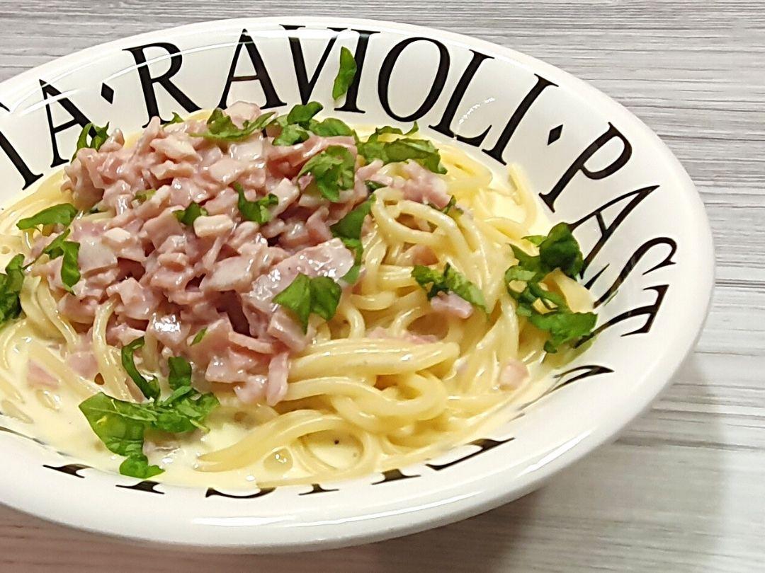 Spaghetti mit Schinken-Sahne-Sauce