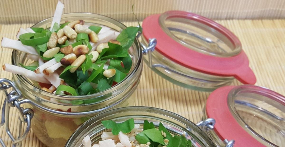 Salat im Glas - Kartoffelsalat
