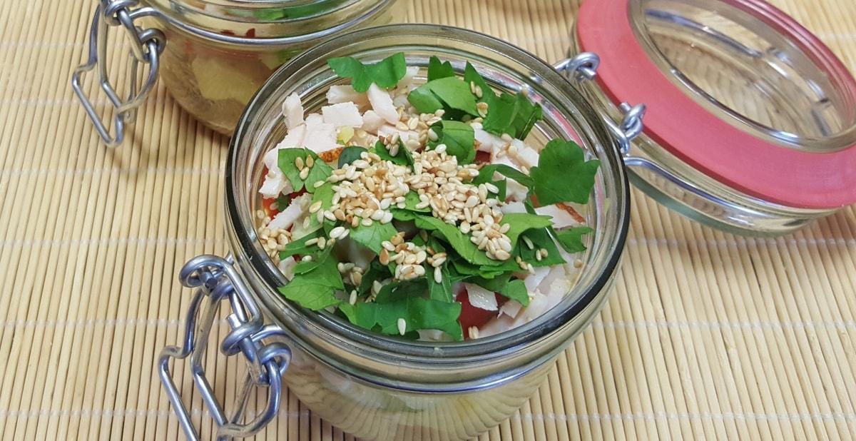 Resteverwertung: Kartoffelsalat mit Joghurt-Curry Dressing