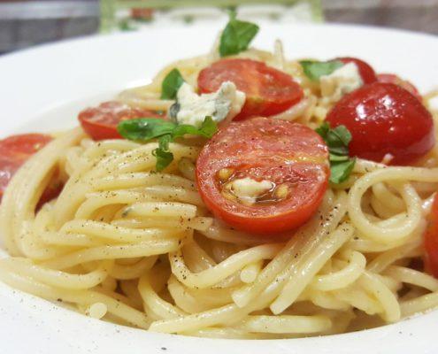 Spaghetti mit Soße ohne kochen