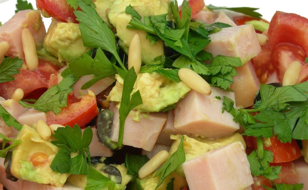 Rezept für Geflügel-Avocado-Salat