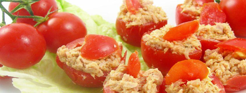einfache und schnelle Fingerfood - gefüllte Kirschtomaten - Rezept