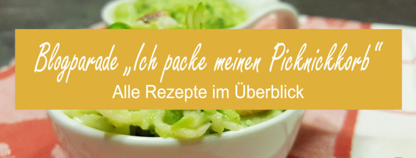 """Zusammenfassung zur Blogparade """"Ich packe meinen Picknickkorb"""""""