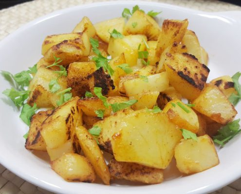 Rezept zur Resteverwertung von Kartoffeln: knusprige Röstkartoffeln
