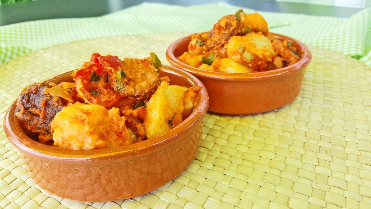 fruchtig scharfer Kartoffelsalat mit spanischer Chorizo
