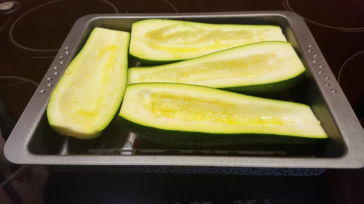 Rezept für gebackene Zucchini