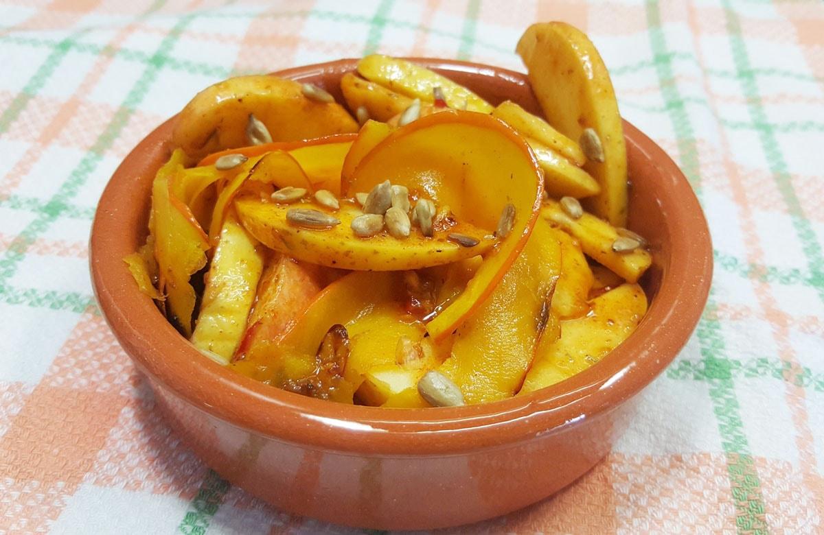 Lauwarmer Kürbis-Apfel-Salat