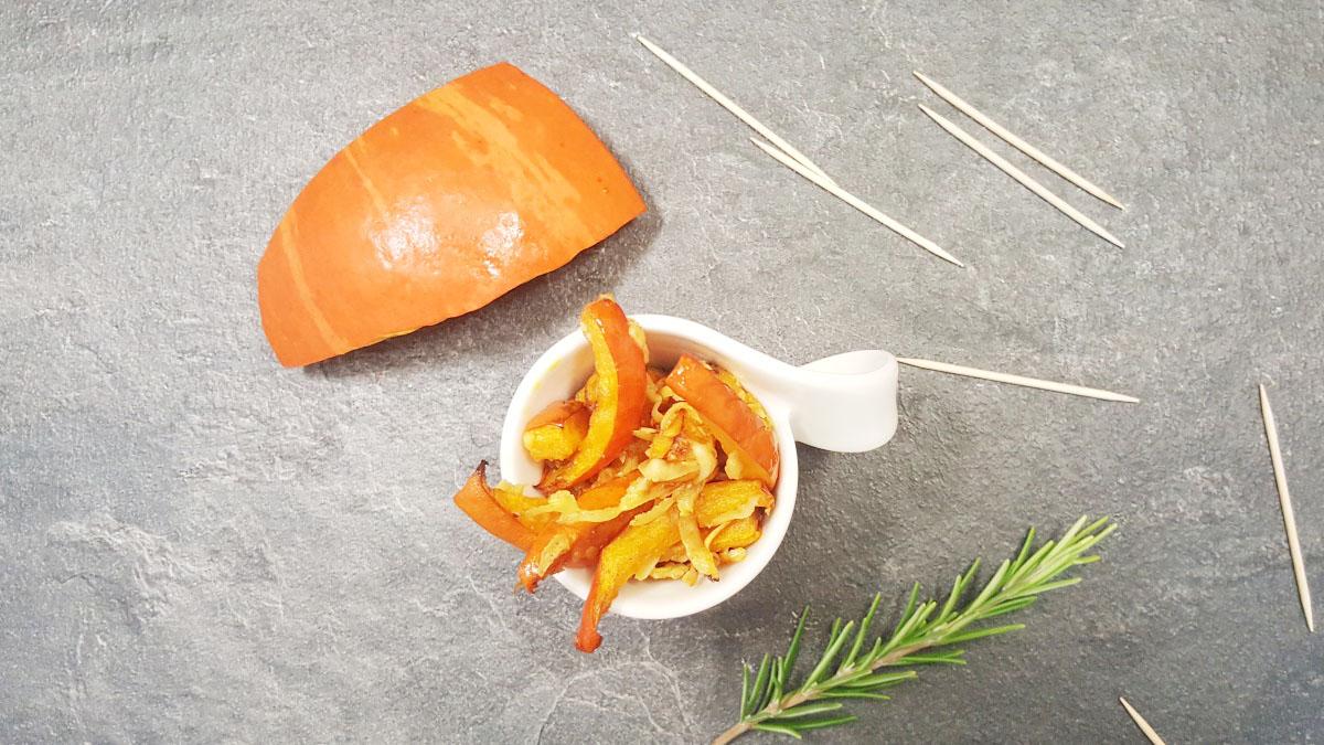 Kürbis Pommes Rezept. mit Parmesan