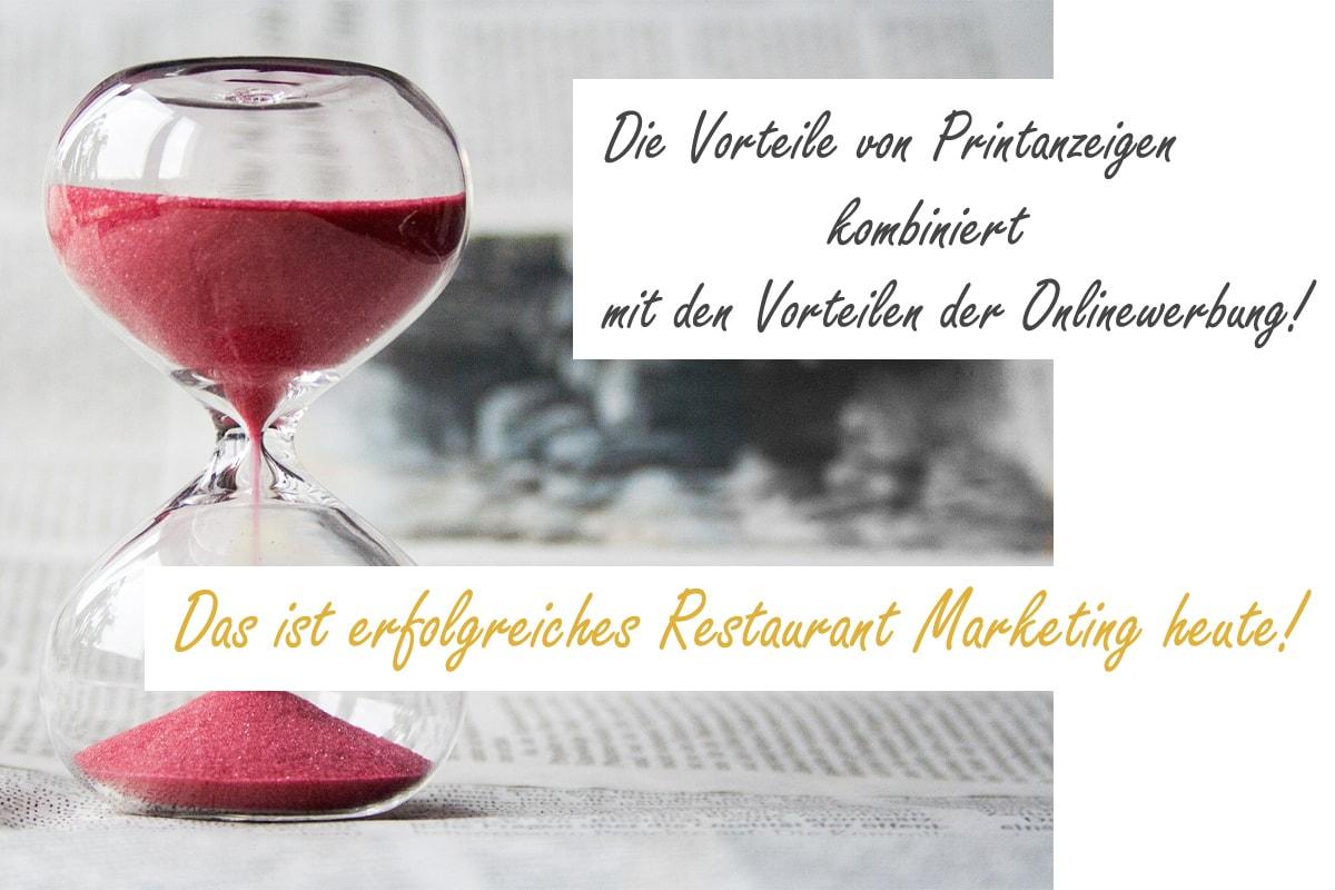Werbung für Restaurants
