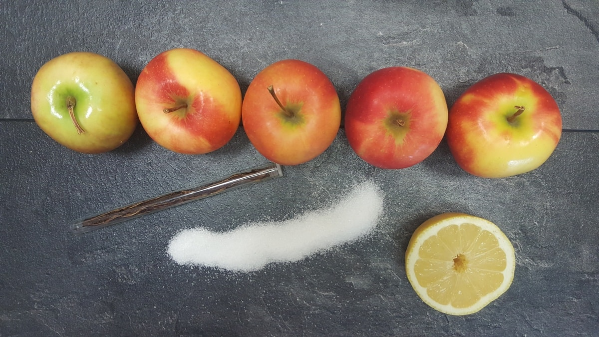 Apfelmus selber machen - die Zutaten