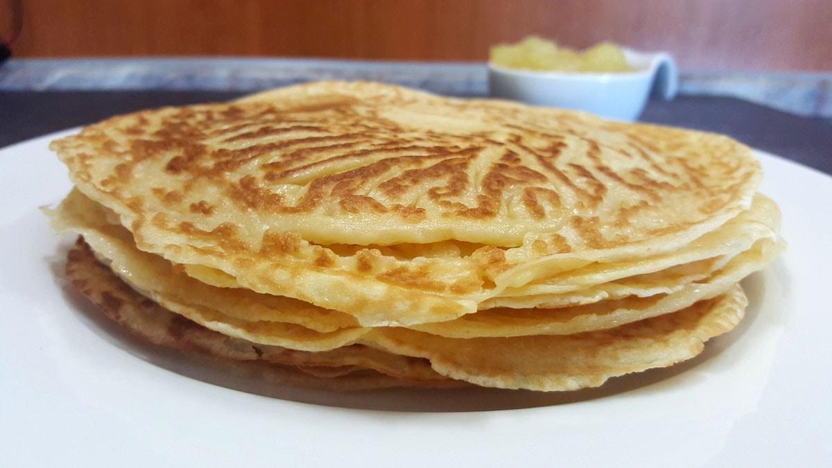 selbstgemachte Eierkuchen / Pfannkuchen