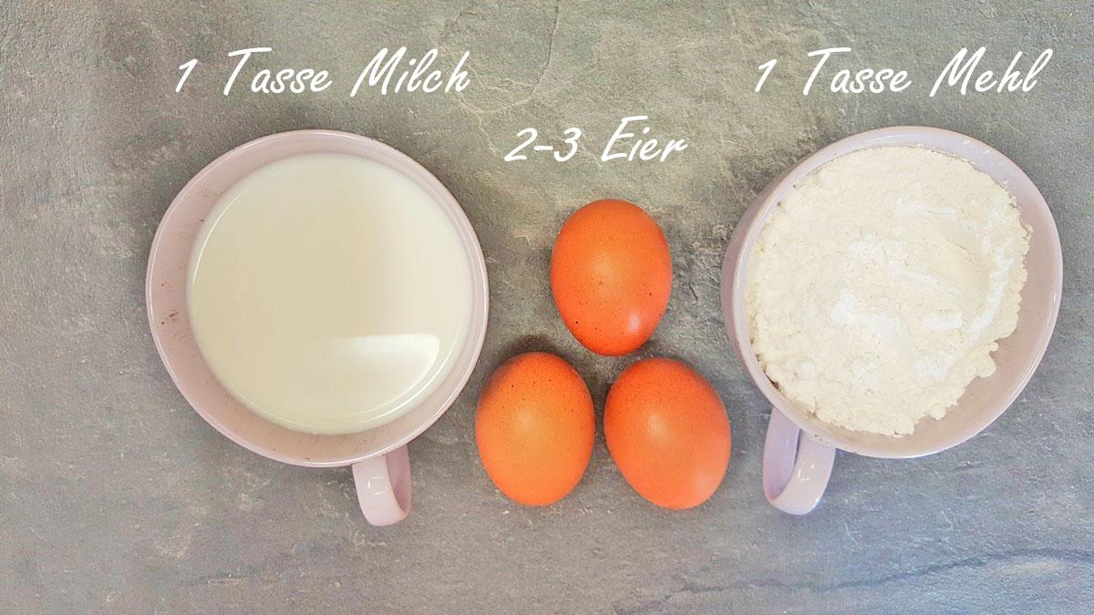 Zutaten Eierkuchen oder Crepes