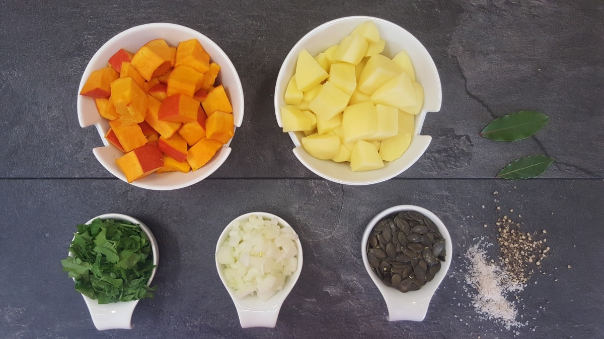 Kürbissuppe Rezept einfach und schnell - die Zutaten