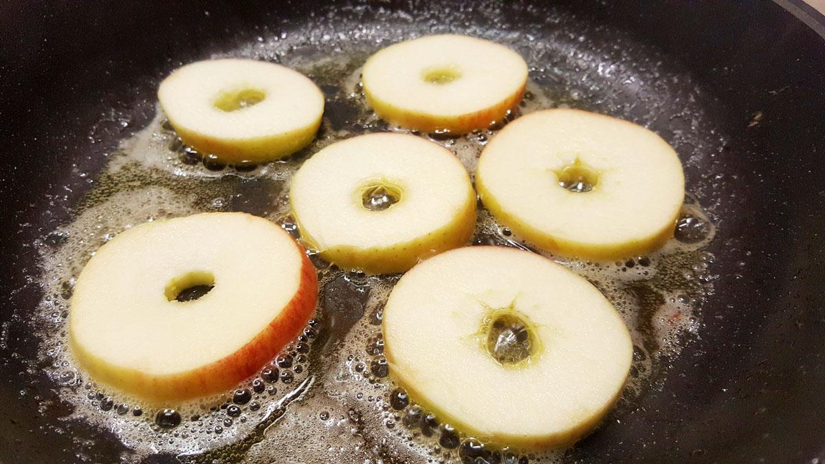 Äpfel braten