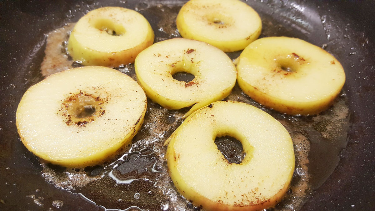 karamellisierte Äpfel