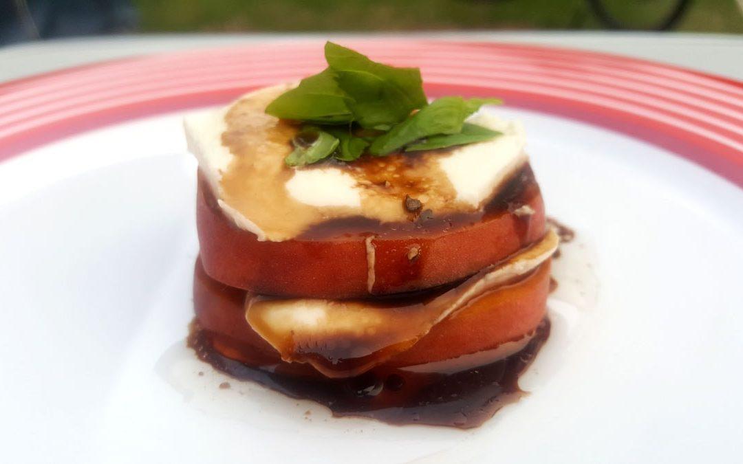 Pfirsich Caprese aus der Aromaküche