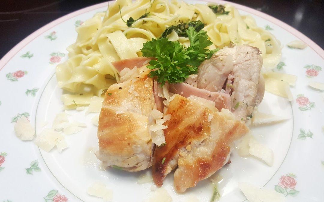 gefüllte Hühnerbrust mit Petersilienpesto