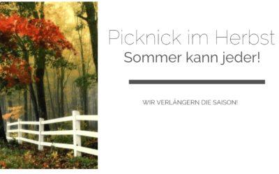 Picknicken im Herbst – einfach sie Saison verlängern