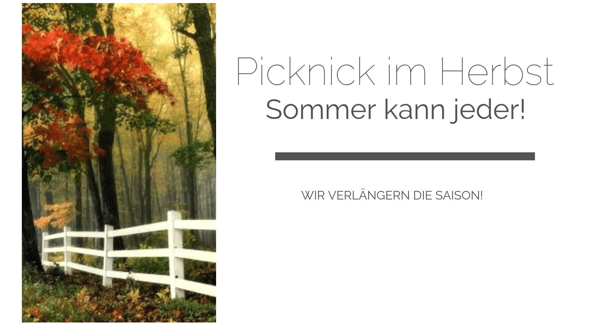 Picknicken im Herbst: die besten Plätze, Ausstattung und Proviant