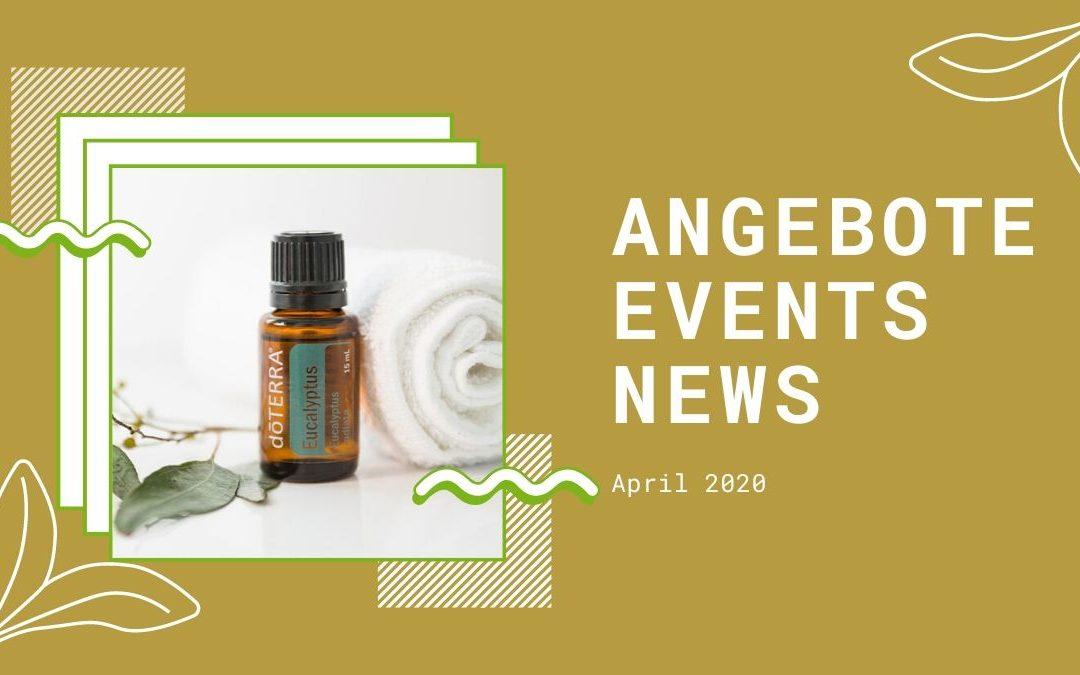 Wellness & gesunder Lifestyle: Angebote, Aktionen und News im April 2020