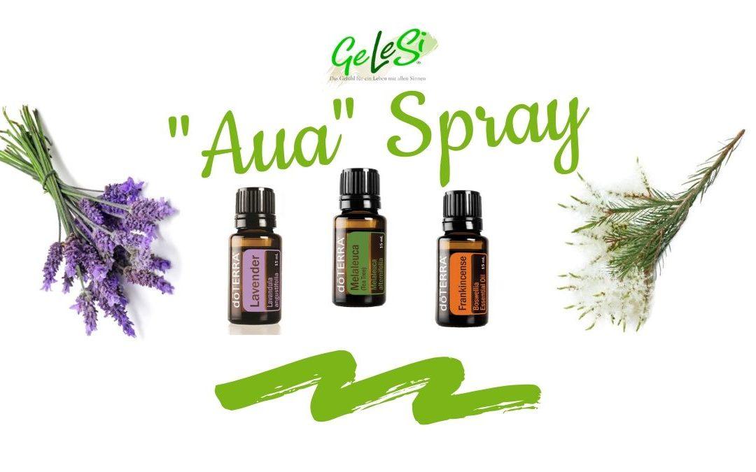 """""""Aua Spray"""" bei kleinen Schürfwunden: ätherisches Lavendel, Teebaum und Weihrauch Öl"""
