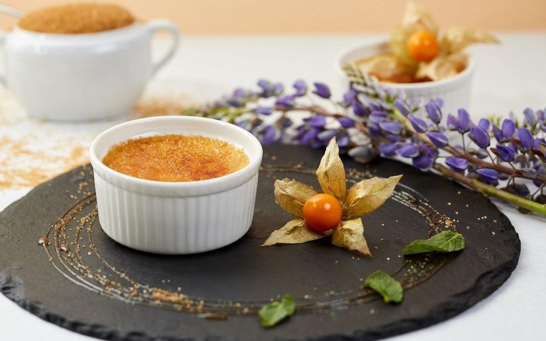 Crème Brulee trifft Lavendelblüten