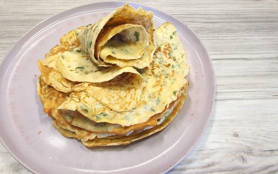 Kräuter Pfannkuchen Rezept mit Dinkelmehl