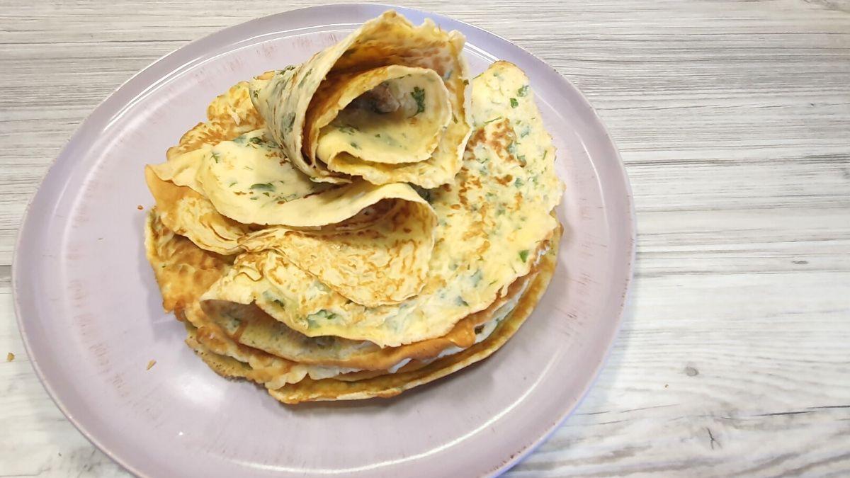 Kräuterpfannkuchen selber machen mit Dinkelmehl