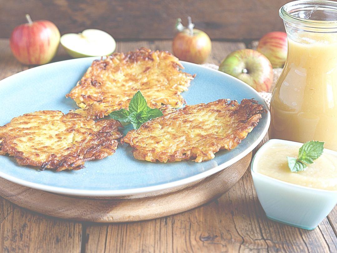 Rezept für Kartoffelpuffer mit Apfelmus