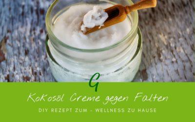 Grundrezept:  Kokosöl Creme gegen Falten selber machen