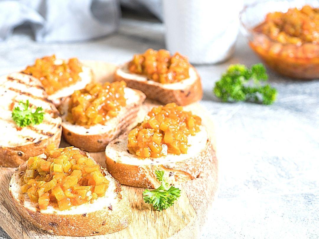 Rezept für Kürbis Gemüse mit Kassler und Bratkartoffeln
