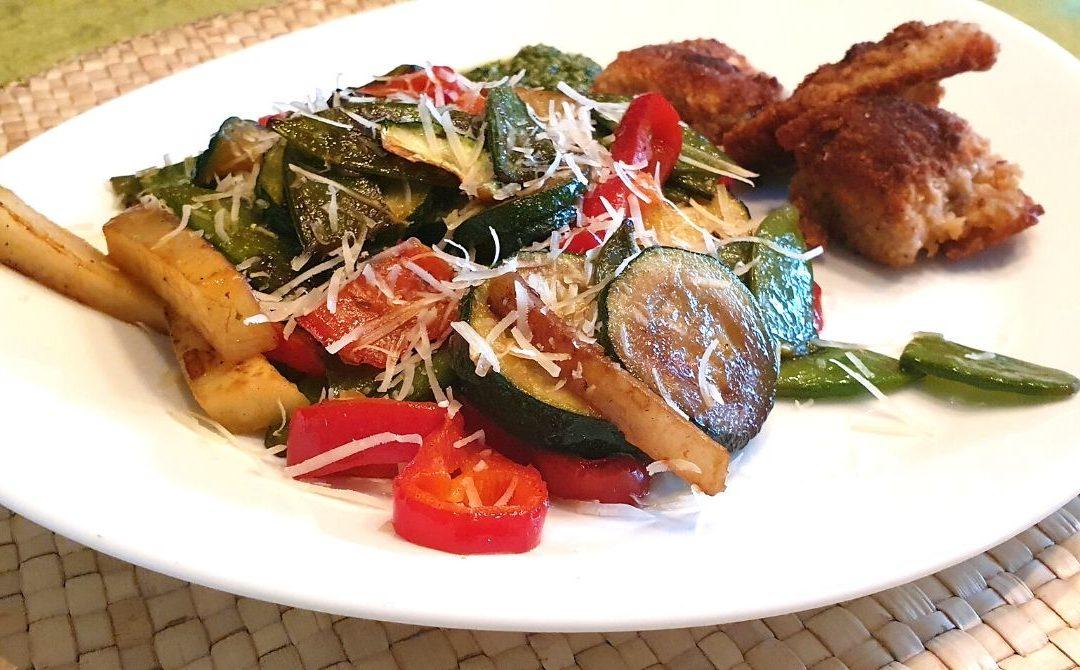 Mediterranes Gemüse mit Putenschnitzel