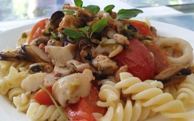 schnelle Meeresfrüchte Pasta