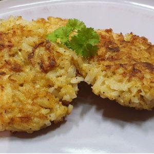 Frikadellen aus Sellerie und Reis - einfaches Rezept