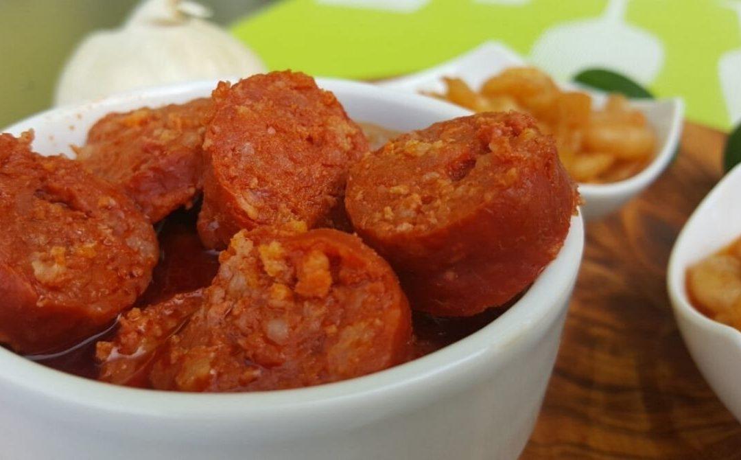 """spanische Tapas: """"Chorizos con Sidra"""""""