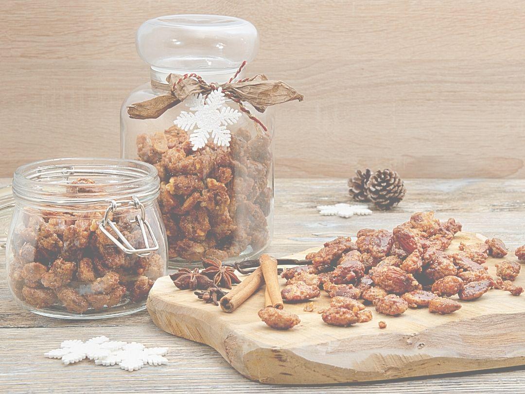 gebrannte Mandeln - Rezept, Weihnachtsmarkt zu Hause